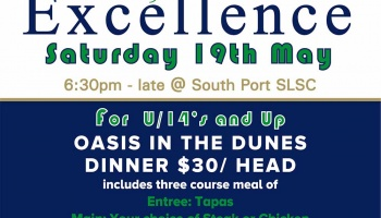 SENIOR AWARDS OF EXCELLENCE DINNER - Saturday 19th May 6:30pm