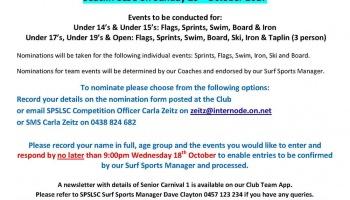 Senior Carnival #1 @ Seacliff SLSC 29 Oct 2017