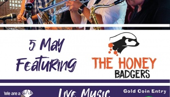Sunday Session 5 May - featuring The Honey Badgers