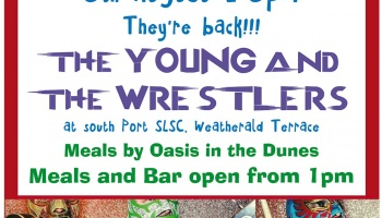 Sunday Session 5th August featuring The Young & The Wrestlers