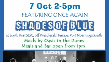 Sunday Session 7 October featuring Shades of Blue